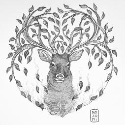 Illustration cerf régénéréscence