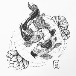 Illustration carpes koÏ