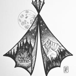 Illustration bivouac
