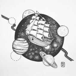 Illustration onirique - Spaceship